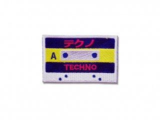 カセットテープワッペン(テクノ)