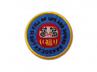 ナナコロビヤオキワッペン(青)