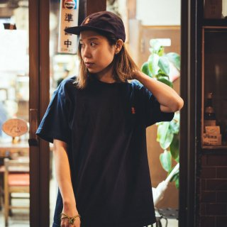 大入 刺繍Tシャツ 紺