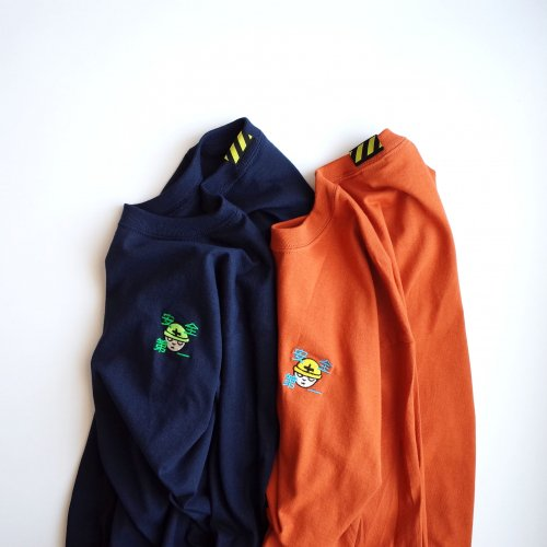 BOUSAI 刺繍ロンT 橙
