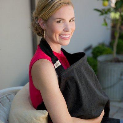 ブラックアイレット:穴かがり刺繍 ナーシングカバー ・プレミアムコットン