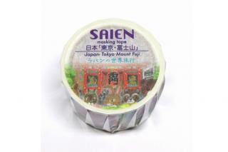 旅するラパンのマスキングテープ 日本「東京・富士山」