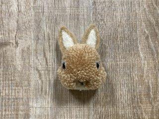 うさぎのブローチ たち耳 オレンジ 0019