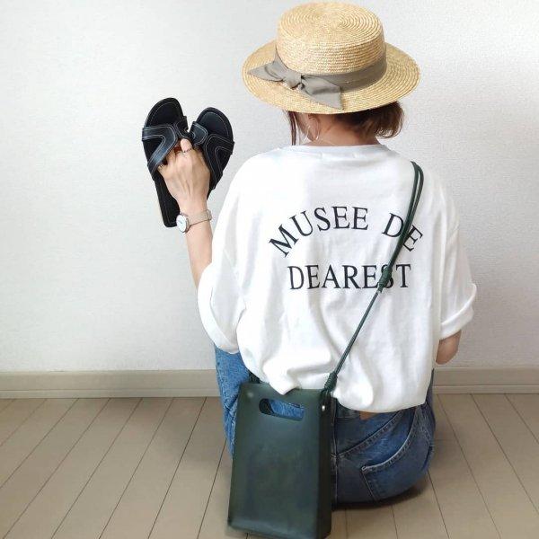 英字ロゴ プリント 半袖 オーバーサイズ カジュアル Tシャツ