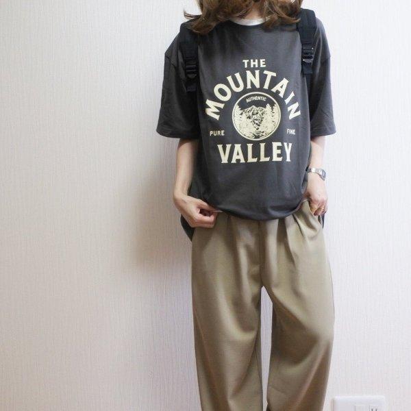フロント 英字ロゴ プリント 半袖 オーバーサイズ Tシャツ