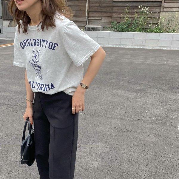 ベアー 半袖 ゆったり オーバーサイズ プリントTシャツ