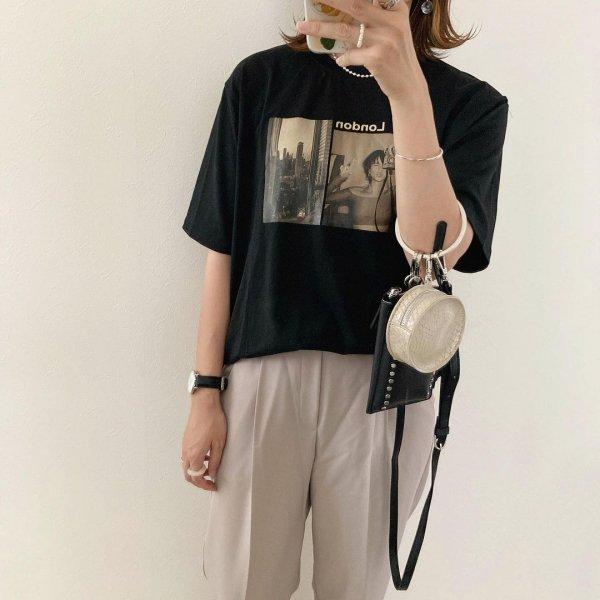 プリント オーバーサイズ Tシャツ