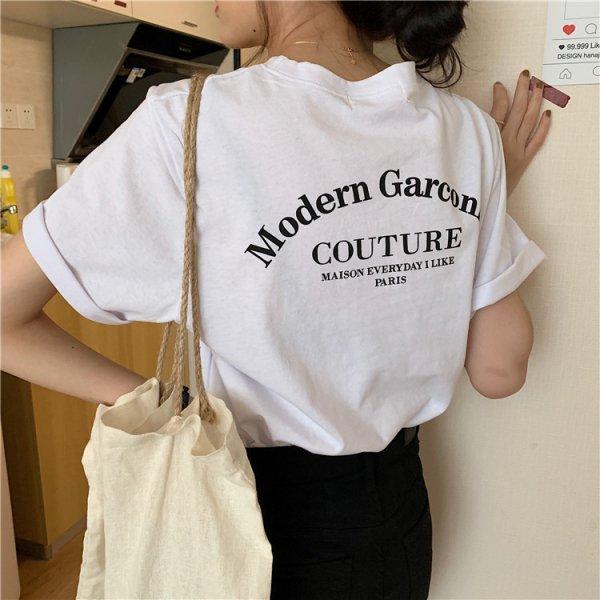 バックプリント ロゴ オーバーサイズ Tシャツ