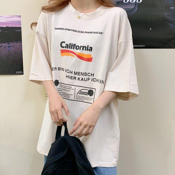 ロゴ 半袖 オーバーサイズ Tシャツ