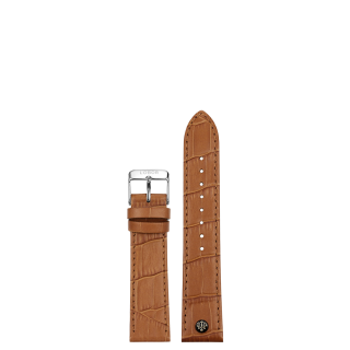 BROWN STRAP 16MM(SILVER)