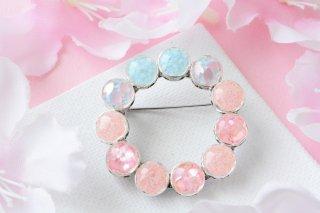 【春限定】桜空:ブローチ