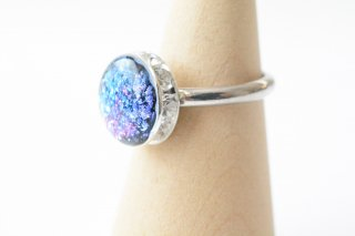 【初夏限定】夜の紫陽花:指輪