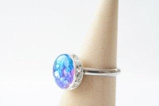 【初夏限定】雨の紫陽花:指輪
