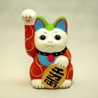 唐草招き猫 赤唐草