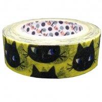 マスキングテープ 黒猫フェイス