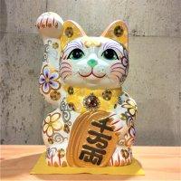 招き猫8号 正倉院モチーフ模様(安江美香作)
