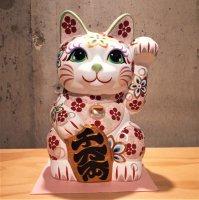 招き猫7号 正倉院モチーフ模様(安江美香作)