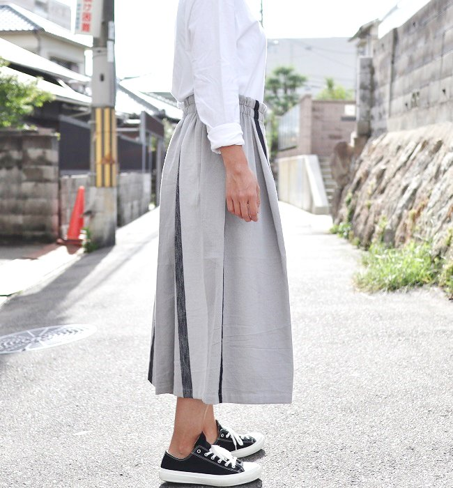 tamaki niime wide pants short cotton