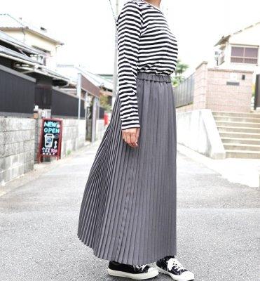 YARRA ロングプリーツスカート