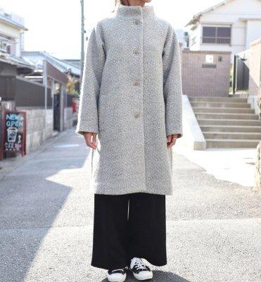 Le ciel ウール混無地コート(gray/black)