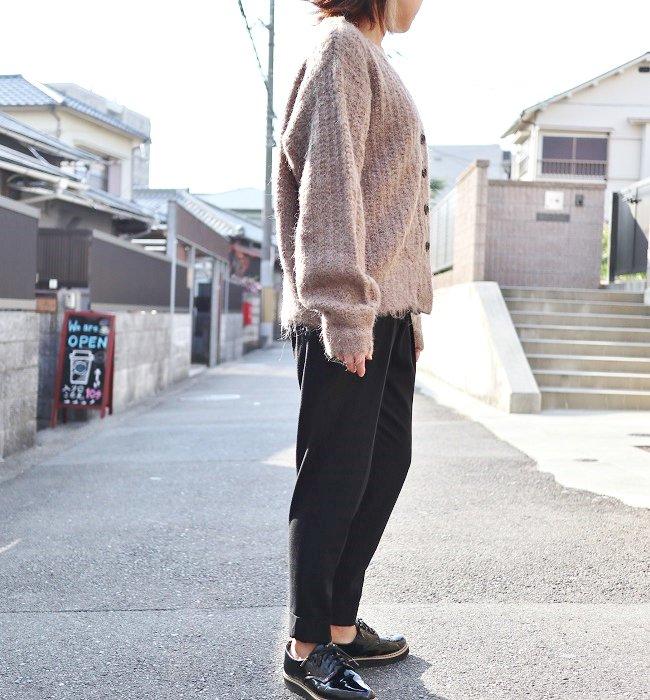 ichi アゼ編みニットカーディガン(GRAY/MOCHA/BLACK)