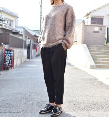ichi アゼ編みニットプルオーバー(GRAY/MOCHA/BLACK)