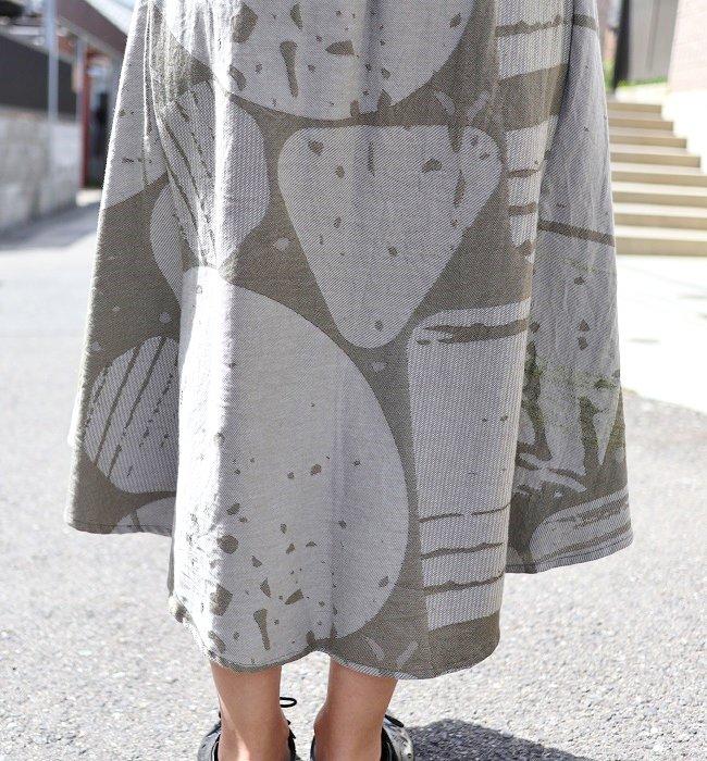 tamaki niime chotan skirt cotton100%(KHK,GY)