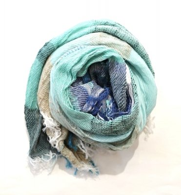 tamaki niime roots shawl middle cotton(TQ)