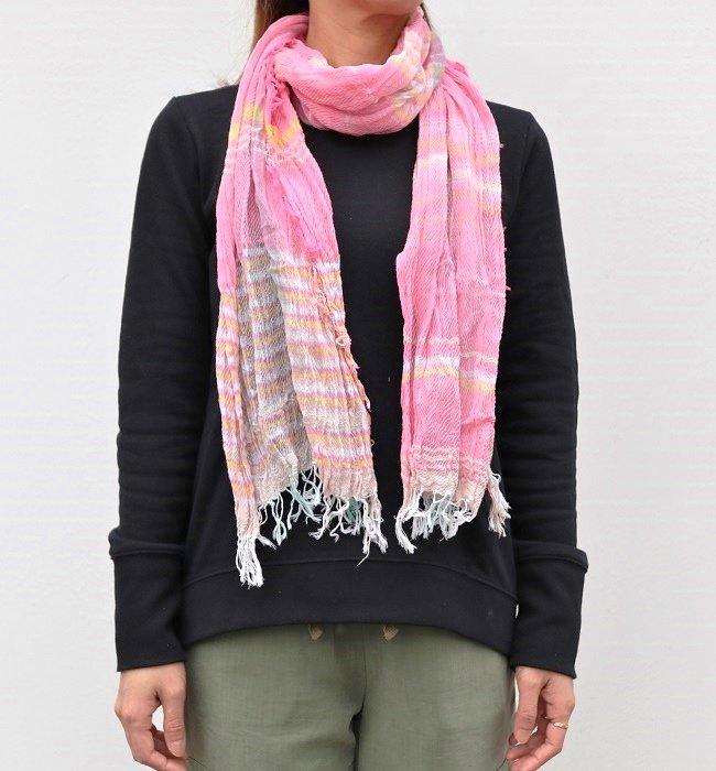 tamaki niime roots shawl middle cotton(PK)