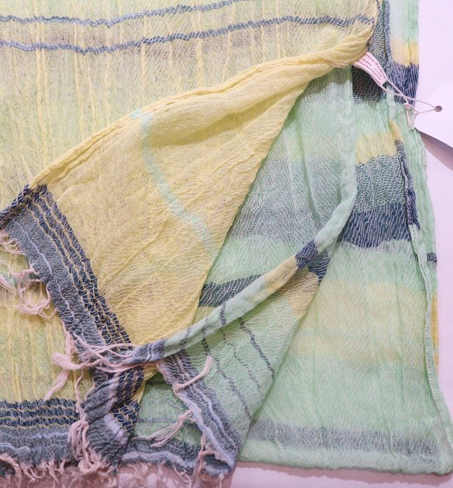 tamaki niime roots shawl middle cotton(GN)