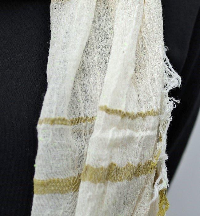tamaki niime roots shawl middle cotton(YE)