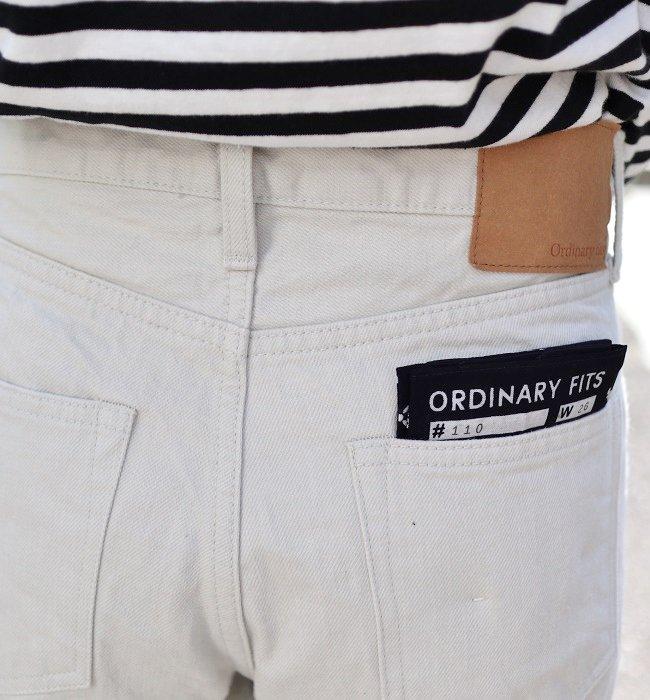Ordinaryfits 5POCKET ANKLE DENIM (one wash WHT)