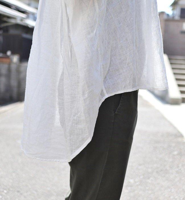 Ordinary fits リネンバーバーノースリーブシャツ