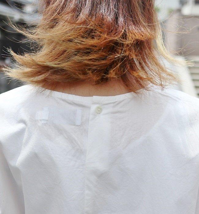 MANUAL ALPHABET  バルーンスリーブシャツ(WHITE/BLACK)