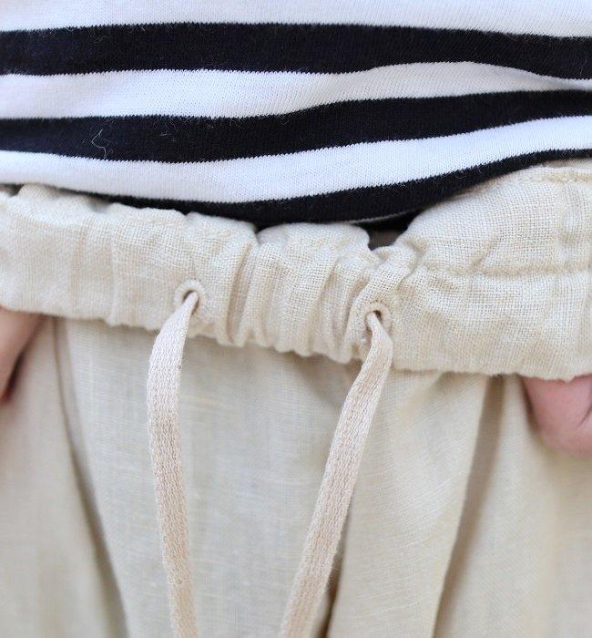 Ordinary fits BALL PANTS LINEN(OFF/BLK)