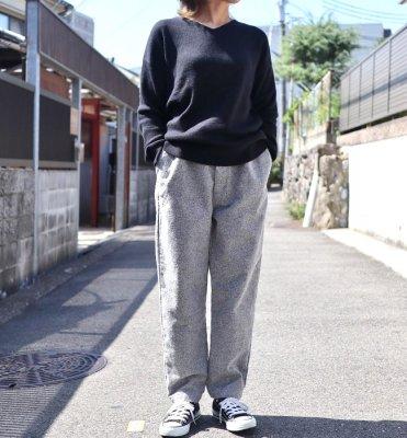 Ordinary fits  PAJAMA PANTS(GRY/BLK)