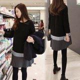 プリーツが可愛い韓国ワンピース 秋冬にぴったりな長袖ワンピース