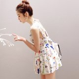 夏に着たい水着ワンピース 清楚なアニマル柄の韓国ワンピ