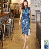 上品でクラシカルな雰囲気が楽しいパーティードレス ラップドレスの様なデザインが可愛い韓国ワンピース