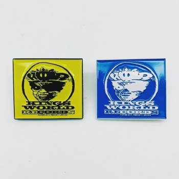 KINGS WORLD RECORDS メタルピンバッジ (YELLOW & BLUE)