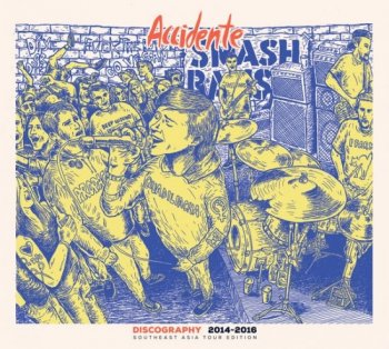 """ACCIDENTE """"Discography 2014-2016"""" CD (PAPER SLEEVE、東南アジア・ツアー・バージョン)"""