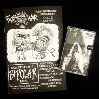 FUZZ WAR Vol.3 ZINE with BIPOLAR TAPE
