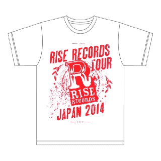FACT - RISE RECORDS TOUR JAPAN 2014 T-SHIRTS WHITE×PINK