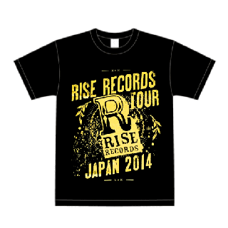 FACT - RISE RECORDS TOUR JAPAN 2014 T-SHIRTS BLACK×YELLOW