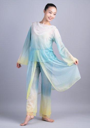 羽衣(青緑×黄)[レンタル衣装]