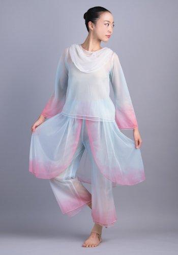 羽衣(青×ピンク)[レンタル衣装]