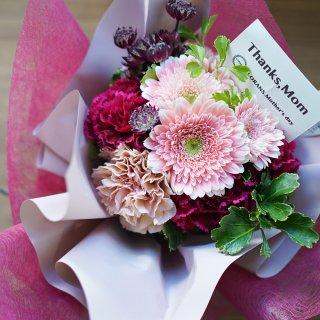 【遅れてごめんね!】【母の日】スタンディングブーケ/ピンクドレス No.45