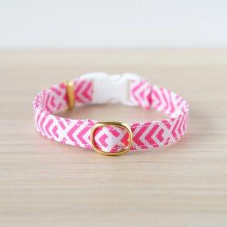 猫 首輪 フィッシュテール ピンク セーフティ猫首輪