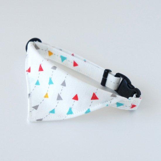 猫 首輪 バンダナ FLAG ホワイト セーフティ猫首輪