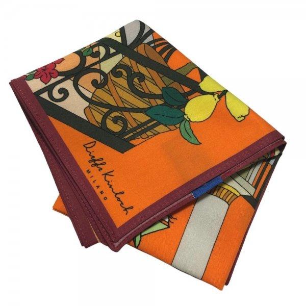 Kinloch (キンロック) / オレンジ / Sunset / ナポリ / アマルフィバルコニー/ ハンカチ メインイメージ